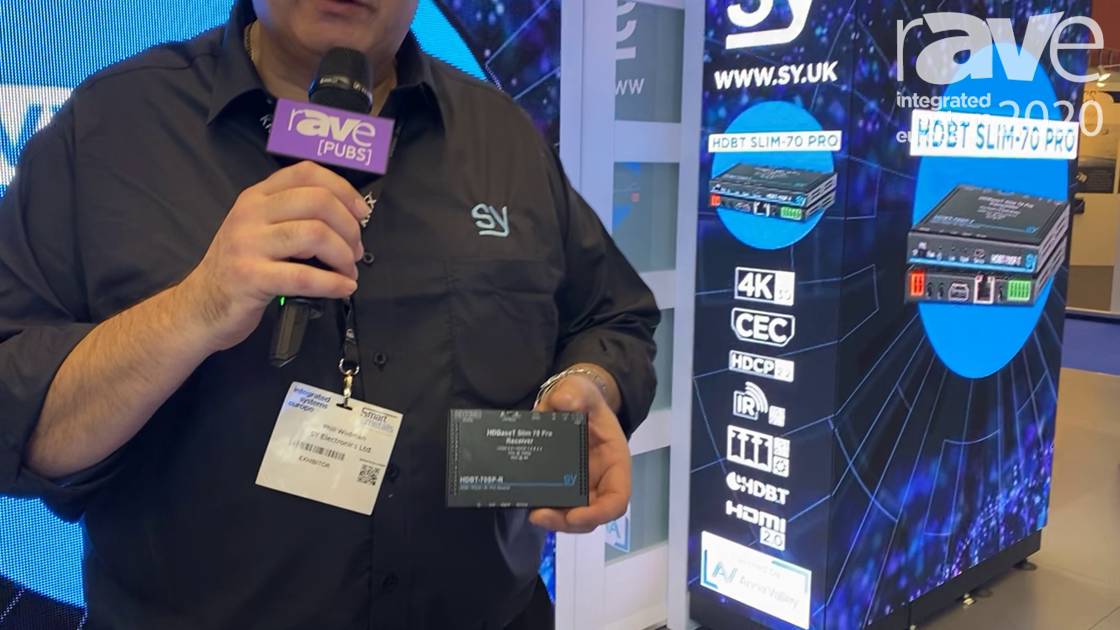 ISE 2020: SY Electronics Features HDBaseT Slim 70 Pro Receiver With Built-In Audio De-Embedding
