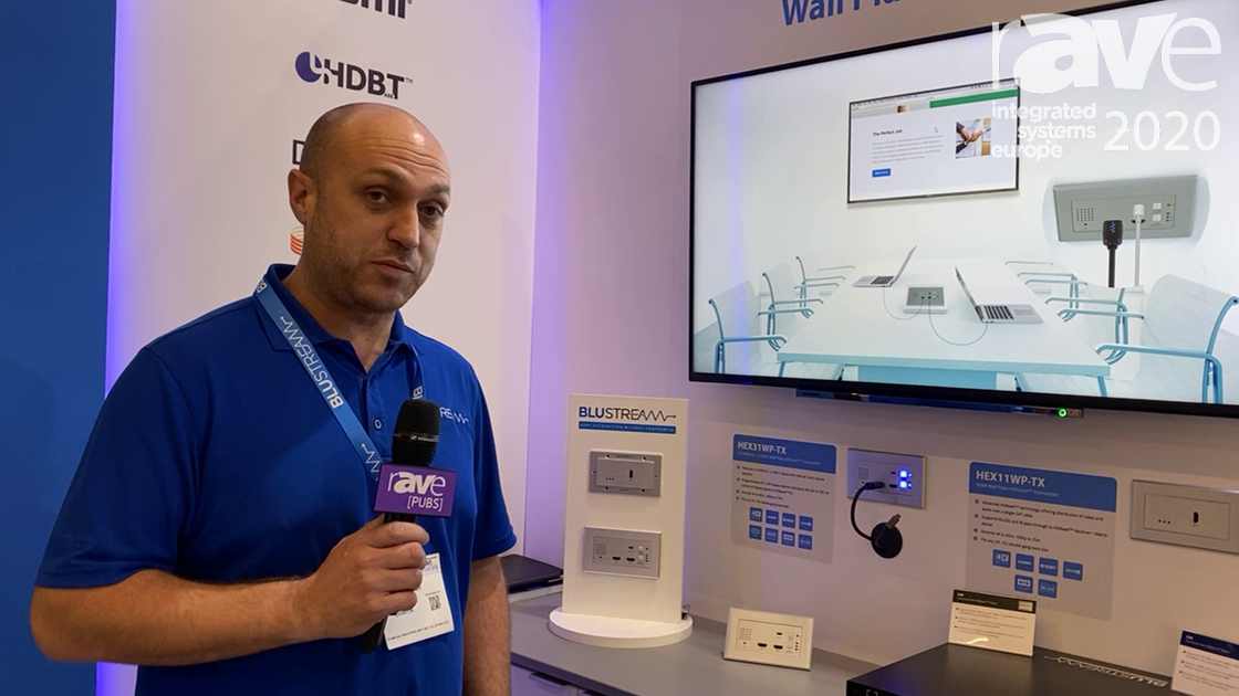 ISE 2020: Blustream Demos Autoswitching Function on HEX31WP-TX 3×1 HDBaseT Wall Plate