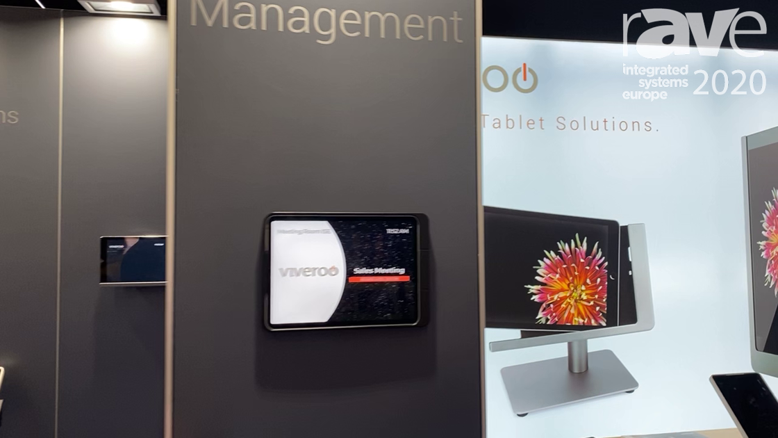 ISE 2020: Viveroo Exhibits the One Tablet Fixed iPad Mount