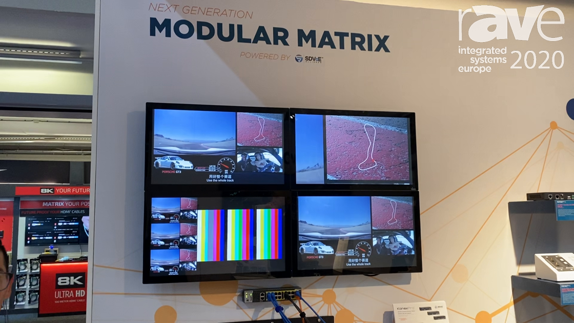 ISE 2020: KanexPro Highlights Next Generation Modular Matrix Powered by SDVoE