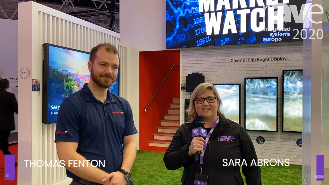 ISE 2020: Sara Abrons Interviews Thomas Fenton of Peerless-AV About dVLED, Outdoor Displays and More