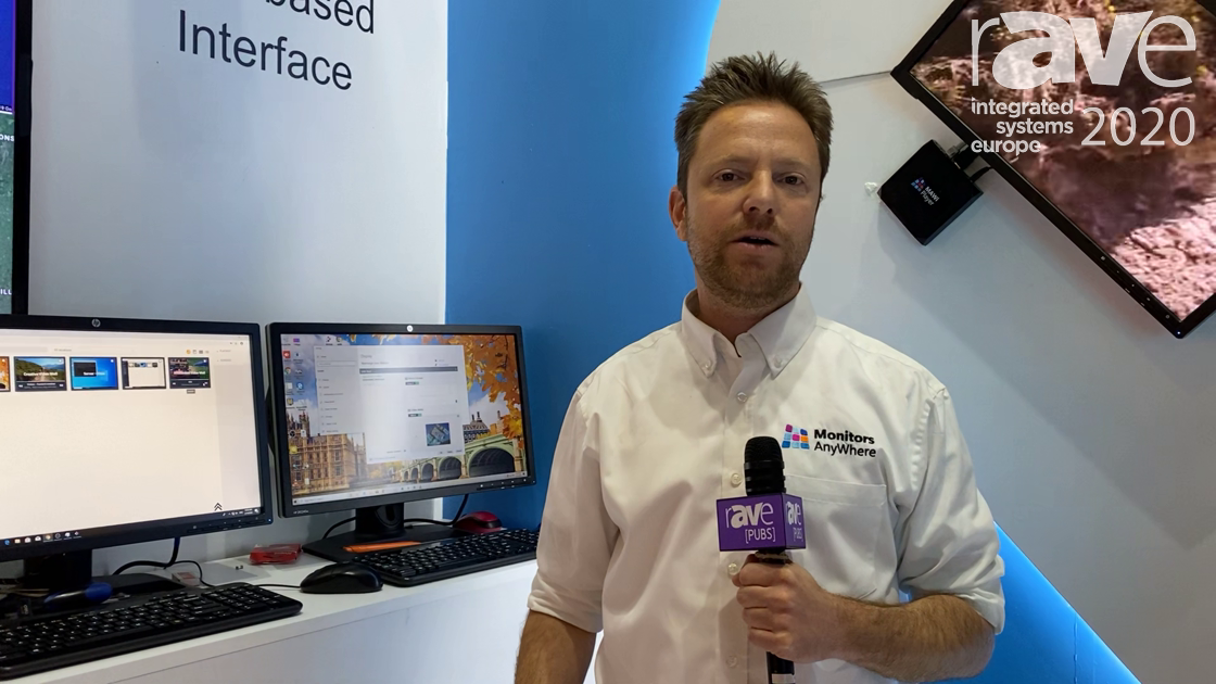 ISE 2020: Monitors AnyWhere Intros MAWi Web-Based Interface for Controlling Multiple Screens