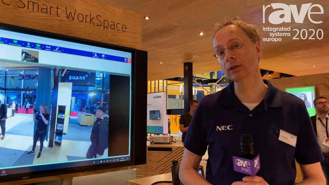 ISE 2020: NEC Display Demos Smart WorkSpace With NEC Meeting Center, NEC InfinityBoard