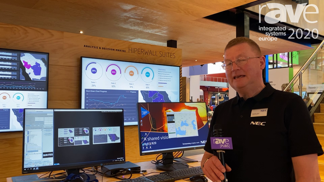 ISE 2020: NEC Displays Demos Hiperwall Software for Displaying Multiple Sources on Video Walls