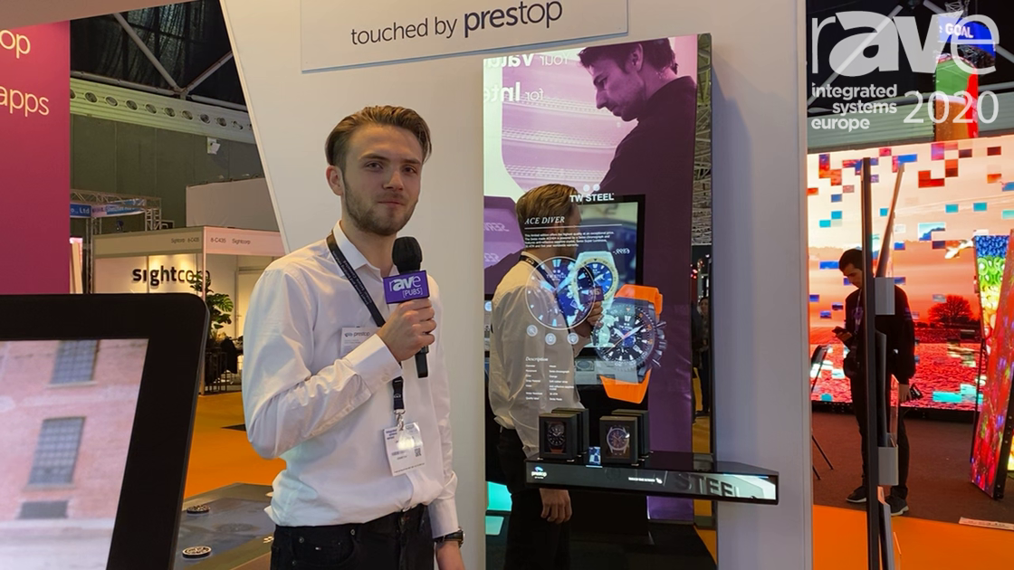 ISE 2020: PresTop Products Demos Interactive Mirror With Lift and Learn System for Retail Application