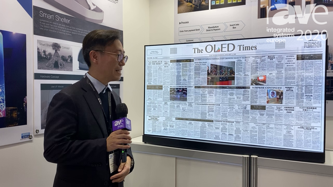 ISE 2020: Kiosk Korea Shows Off Its 40% Transparent OLED
