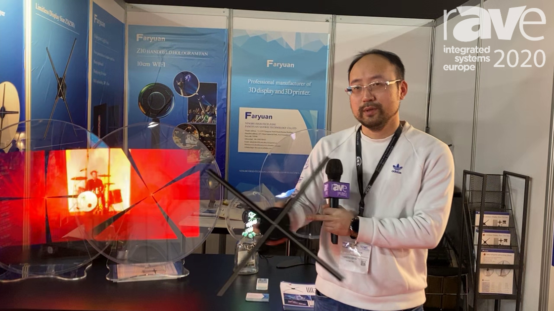 "ISE 2020: Ningbo Central Star Offers an LED-Based, Four-Blade ""Hologram"" Effect Fan"