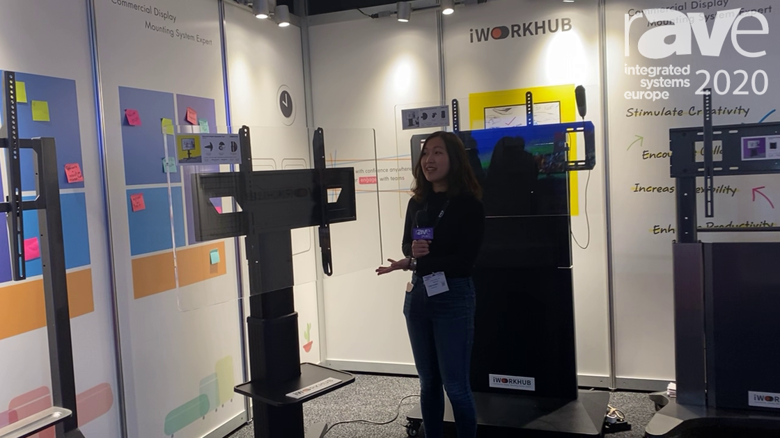 ISE 2020: iWorkHub Demos Motorized Display Cart