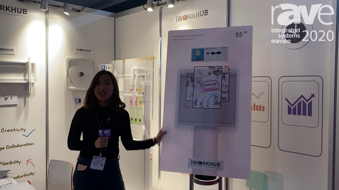 ISE 2020: iWorkHub Demos Rotating Interface Mounting Cart