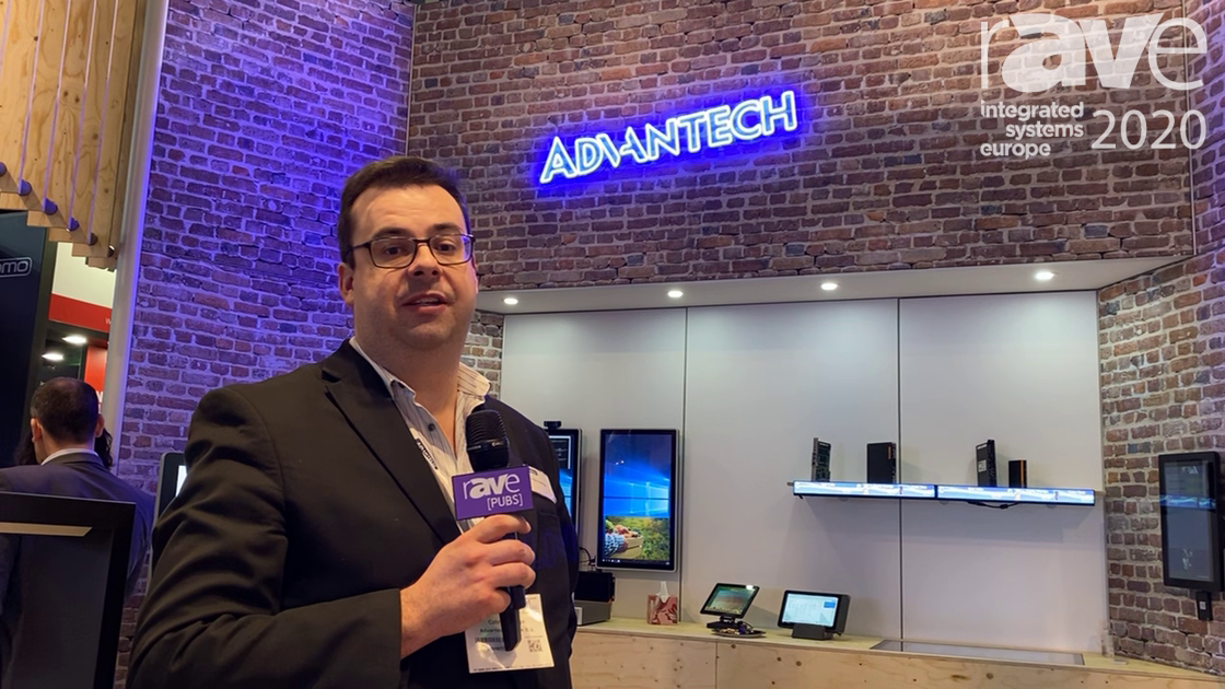 ISE 2020: Advantech Features the CRV-430WC 43″ 4K C-Curved 10-Point Multi-Touch Display