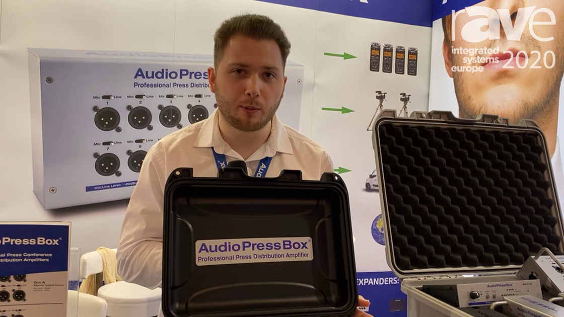 ISE 2020: AudioPressBox Debuts APB-224C Audio Splitter With One Input and 24 Outputs