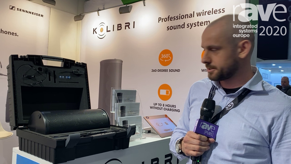 ISE 2020: Kolibri Overviews 360-Degree Portable PA System with Built-in Battery