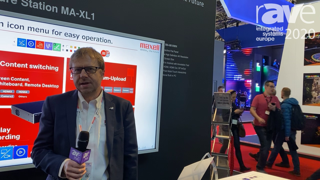 ISE 2020: Maxell Europe Features 3LCD MP-JU4001 Laser Projector with Phosphor-Chip Technology