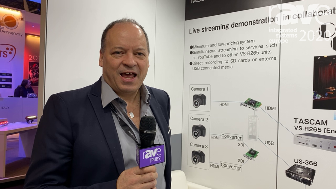ISE 2020: TASCAM Features VS-R264 and VS-R265 Streaming Encoders for Video AV-over-IP