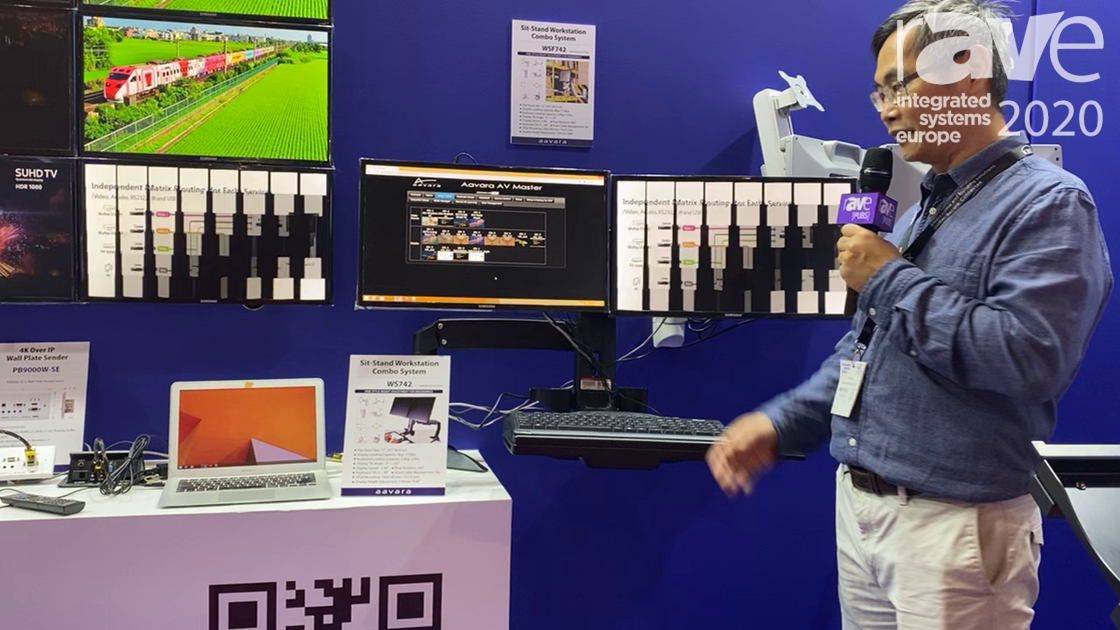 ISE 2020: Aavara Shows Off Its Sit-Stand Workstation Combo System