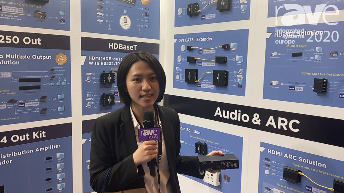 ISE 2020: SC&T Features Its 12G-SDI Converter With Audio Embedding and De-embedding