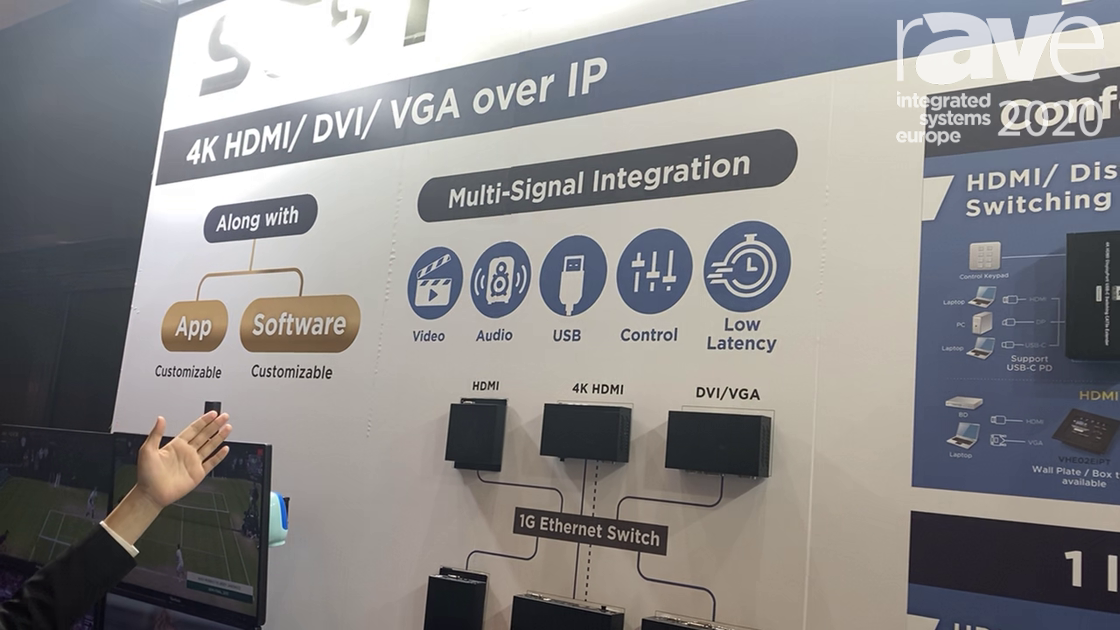 ISE 2020: SC&T Features Its 4K HDMI, HDMI, DVI/VGA AV-Over-IP system