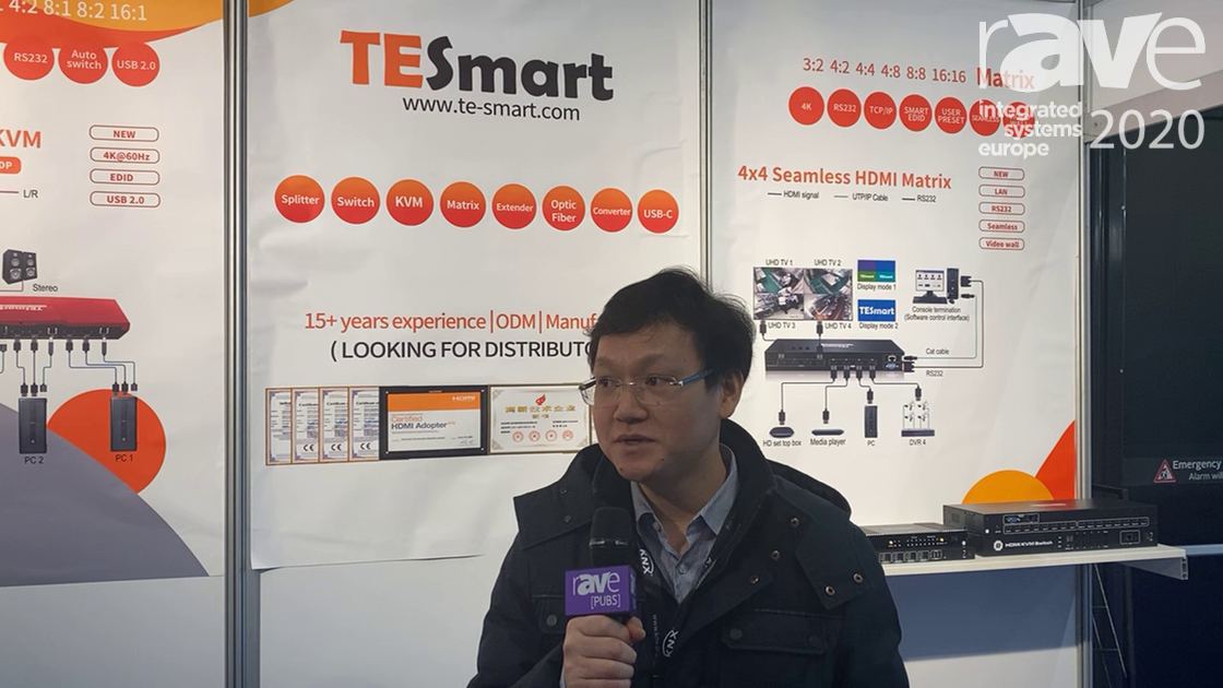 ISE 2020: Tesla Electronic Technology Company Limited Showcases the 1×4 HDMI Splitter