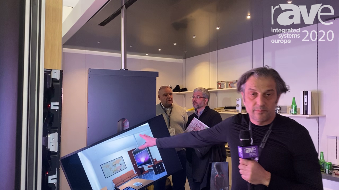 ISE 2020: FLOW Architech Demos the Trak-Kit Fully Automated Super Trak System for Hiding AV