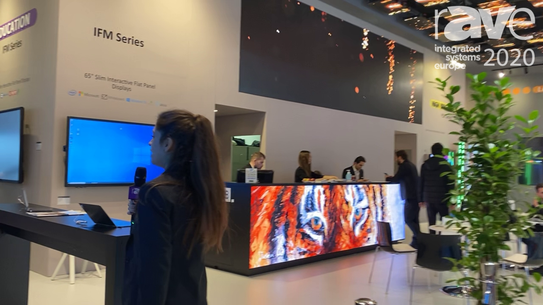 ISE 2020: VESTEL Intros Front-Accessible, Input-Customizable Interactive Flat Panel Displays