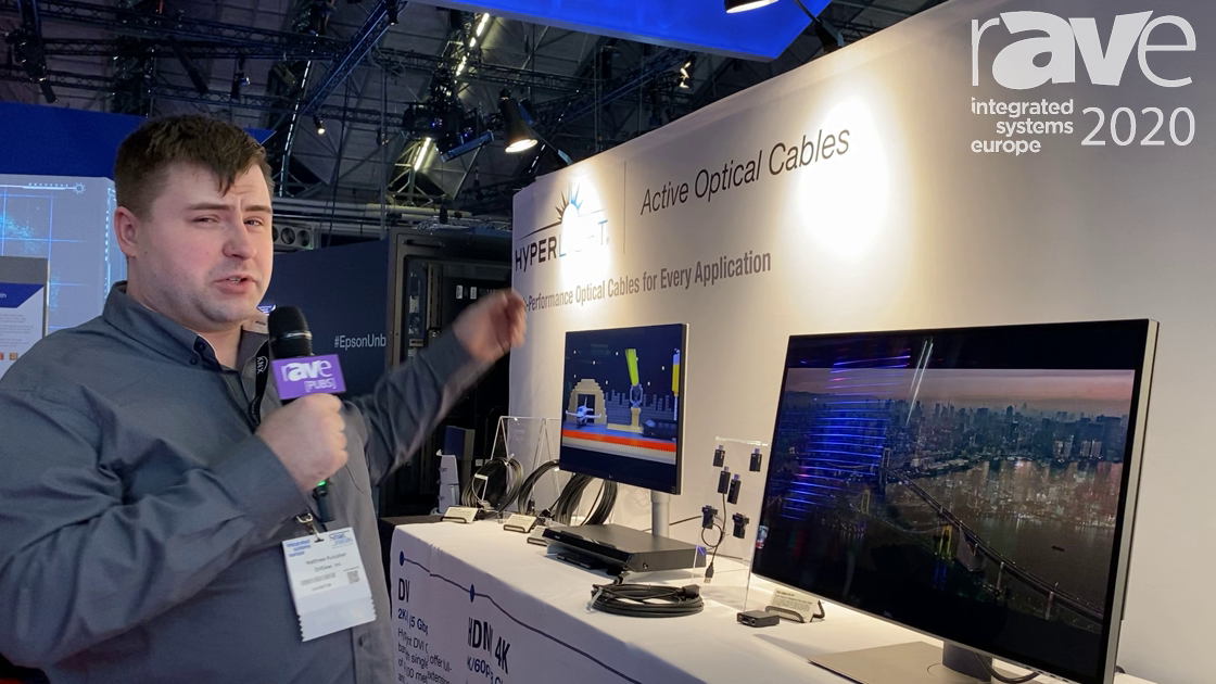 ISE 2020: DVIGear Features the HyperLight DisplayPort 1.4 Active Optical Cable