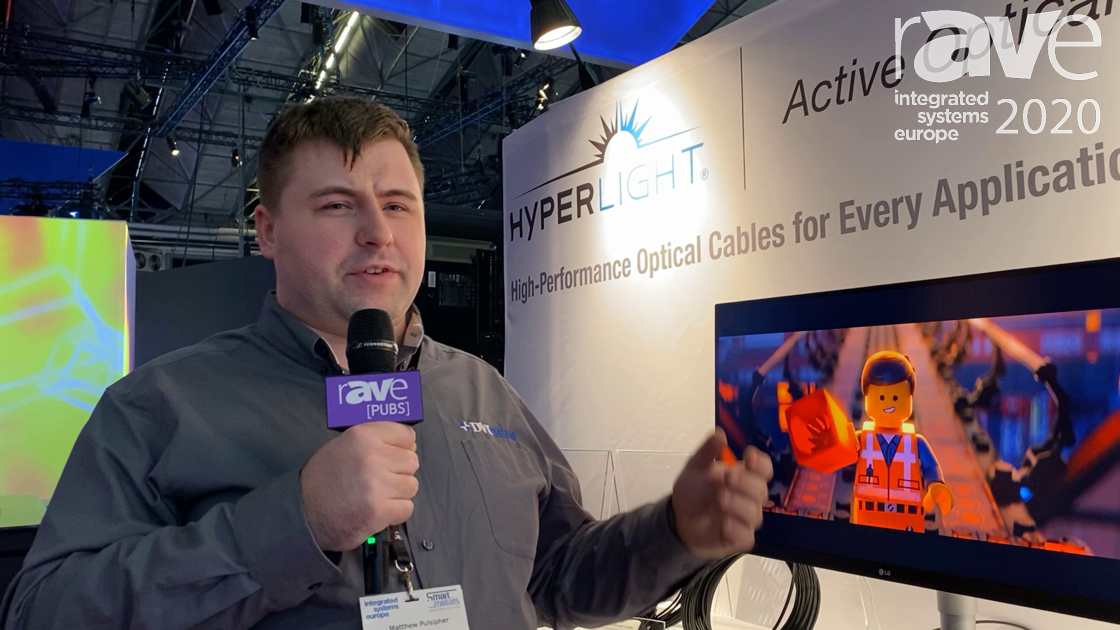 ISE 2020: DVIGear's HyperLight HDMI Active Optical Cable Extends 4K@60Hz Up to 100 Meters