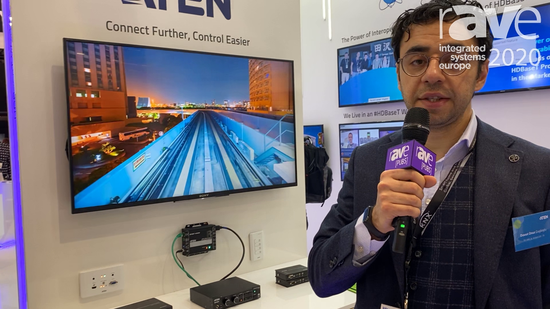 ISE 2020: ATEN Features VP1421 4K Presentation Matrix Switcher on the HDBaseT Alliance Stand