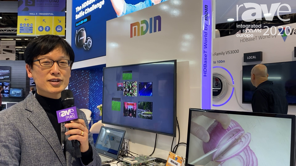 ISE 2020: MDIN Intros 4K Matrix Switcher Solution, Video Processor on HDBaseT Alliance Stand