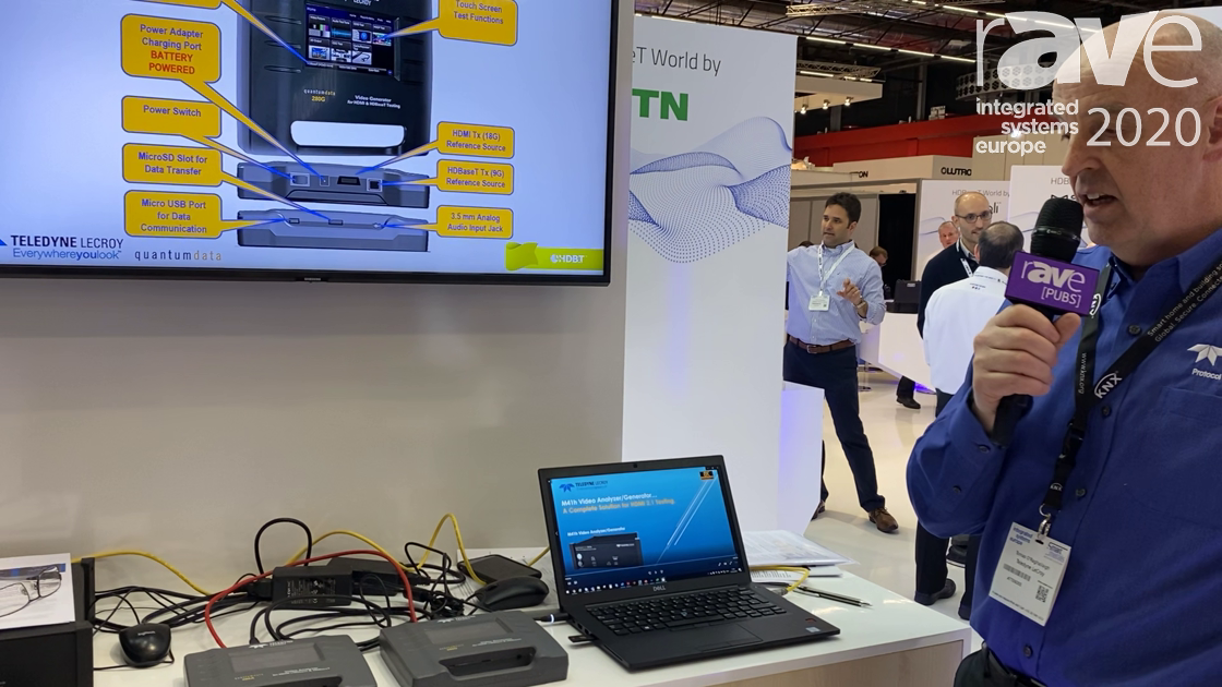 ISE 2020: Teledyne Lecroy Shows quantumdata 280G/A Generator/Analyzer on HDBaseT Alliance Stand