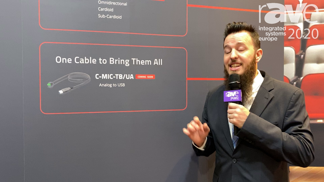 ISE 2020: Kramer Features the New C-MIC-TB/UA, Which Takes Analog Mic Signals Into USB