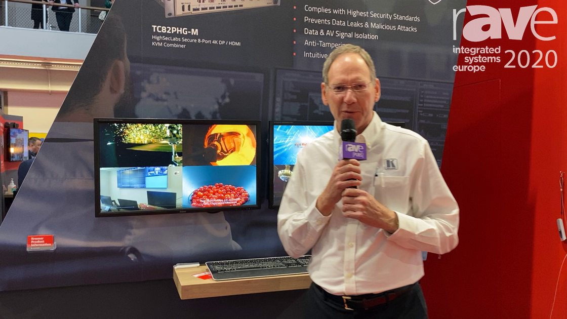 ISE 2020: Kramer's TC82PHG-M Is a High Security 8–Port 4K30 KVM Combiner for Government/Military