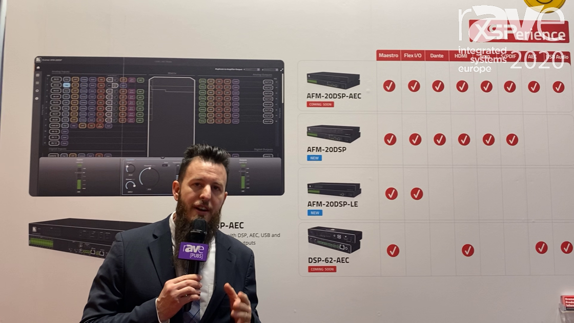 ISE 2020: Kramer Shows Full Family of Audio Matrix DSPs, Including New DSP-62-AEC for Huddle Spaces