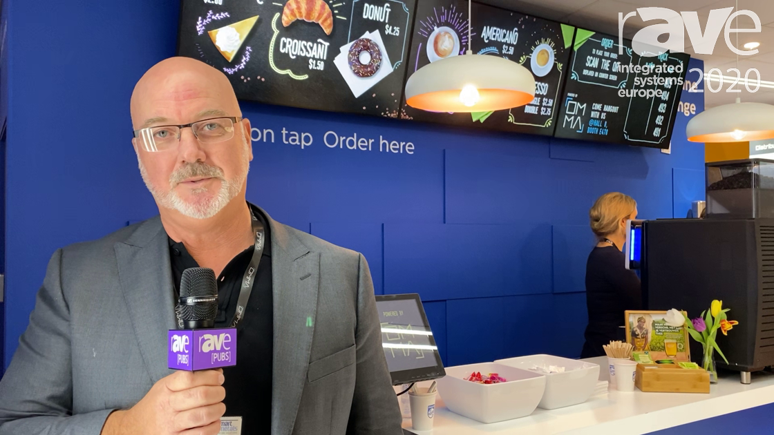 ISE 2020: OMMA Demos Coffee on Tap Interactive Menu Board Solution on Philips Stand