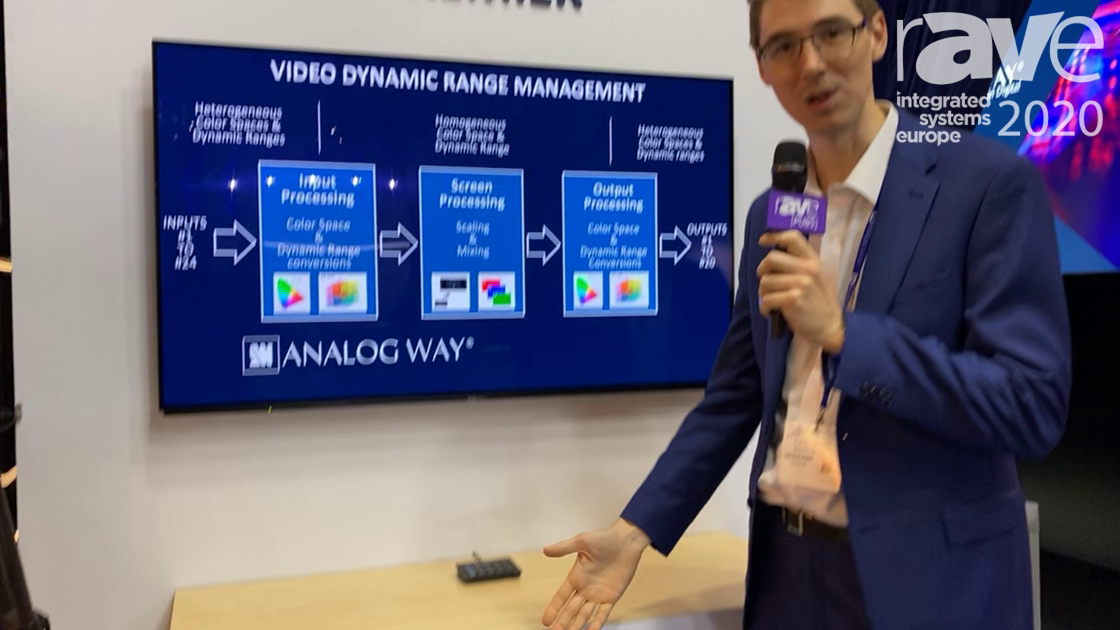 ISE 2020: Analog Way's Aquilon Presentation System Now Converts SDR/HDR With No Additional Latency