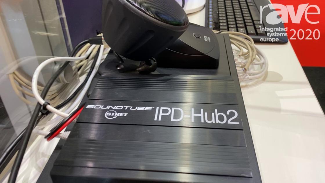 ISE 2020: SoundTube Showcases the IPD-Hub2 Dante Amplifier, Linkable Via STNet