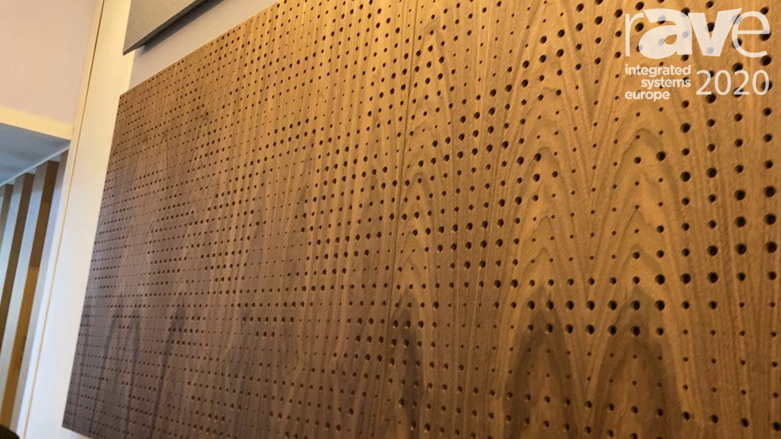 ISE 2020: Artnovion Showcases Black Walnut Panelling Range of Acoustic Panels, Sparta Absorbers