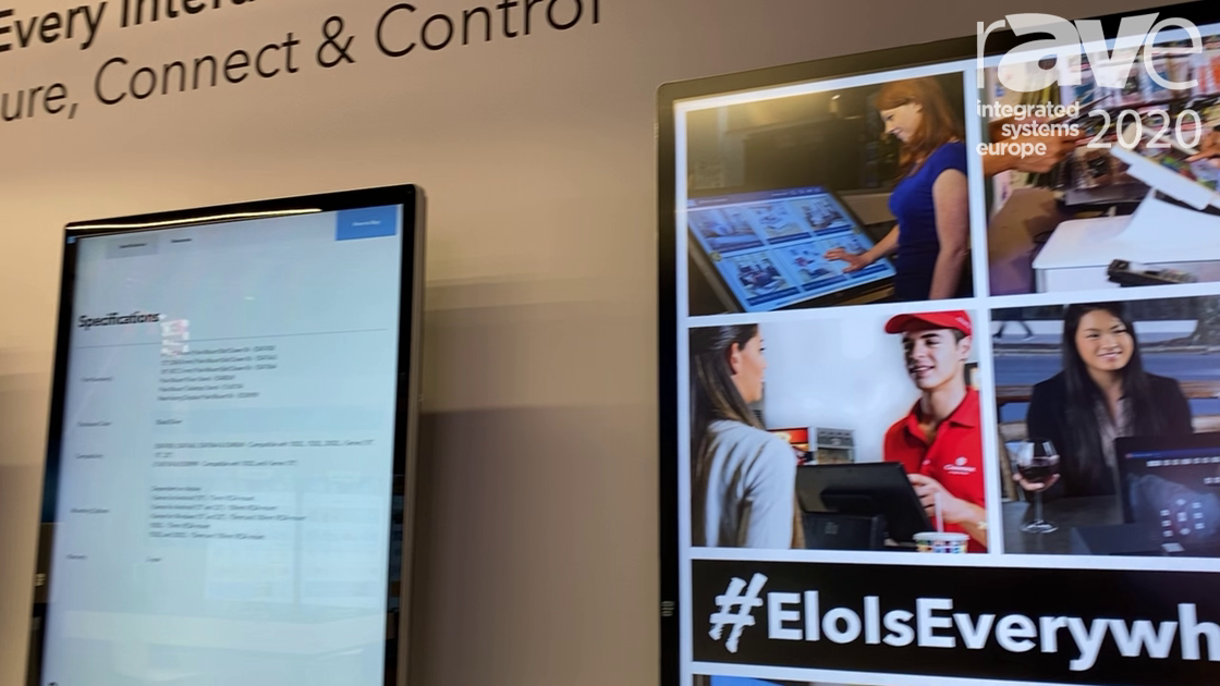 ISE 2020: Elo Showcases Unified Architecture Digital Signage Display Solutions