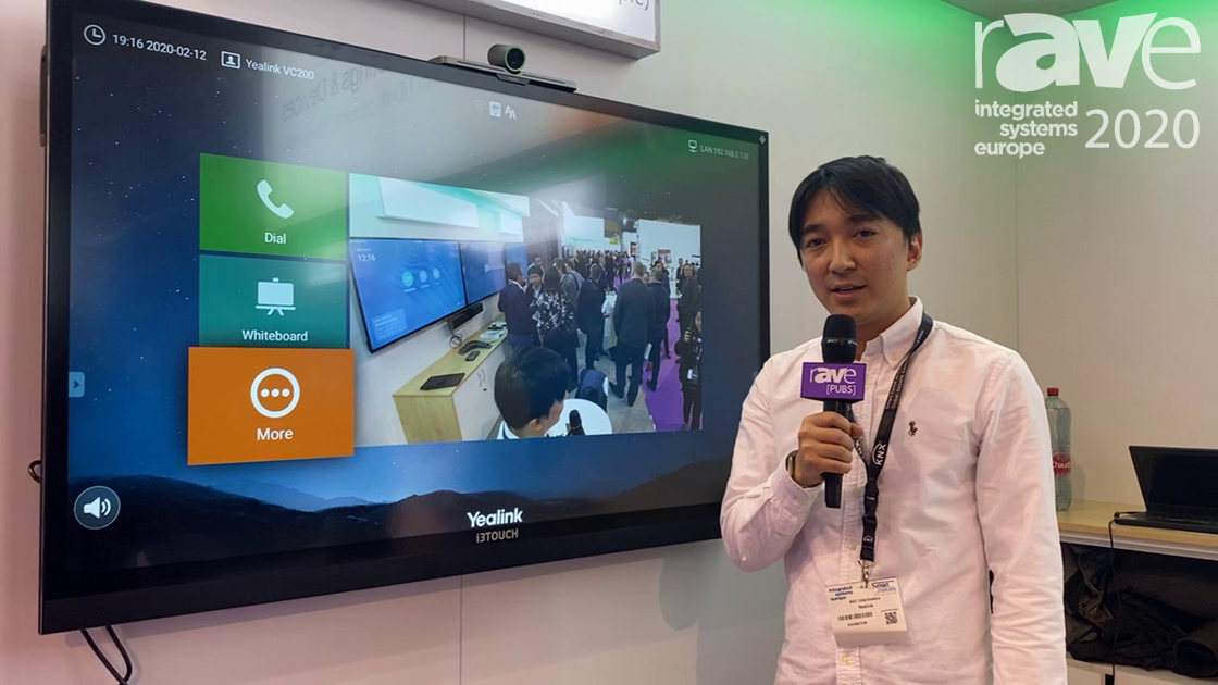 ISE 2020: Yealink Shows VC200 4K PoE Smart Video Conferencing Endpoint With Super Wide Angle Lens