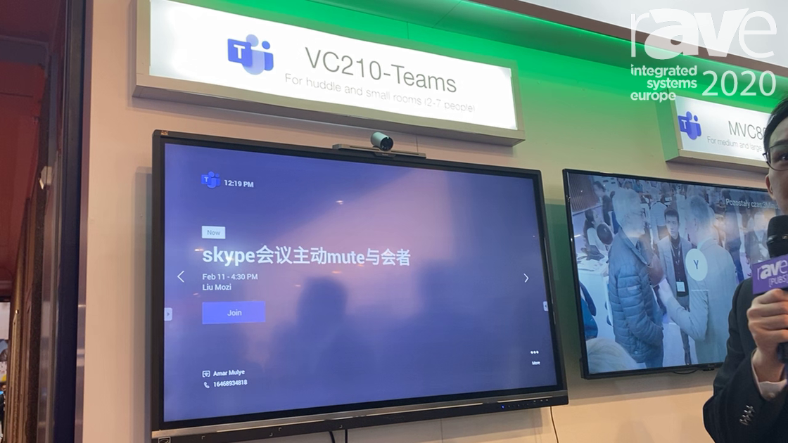 ISE 2020: Yealink Showcases the VC210-Teams Conference Solution for Rooms of 2-7 People