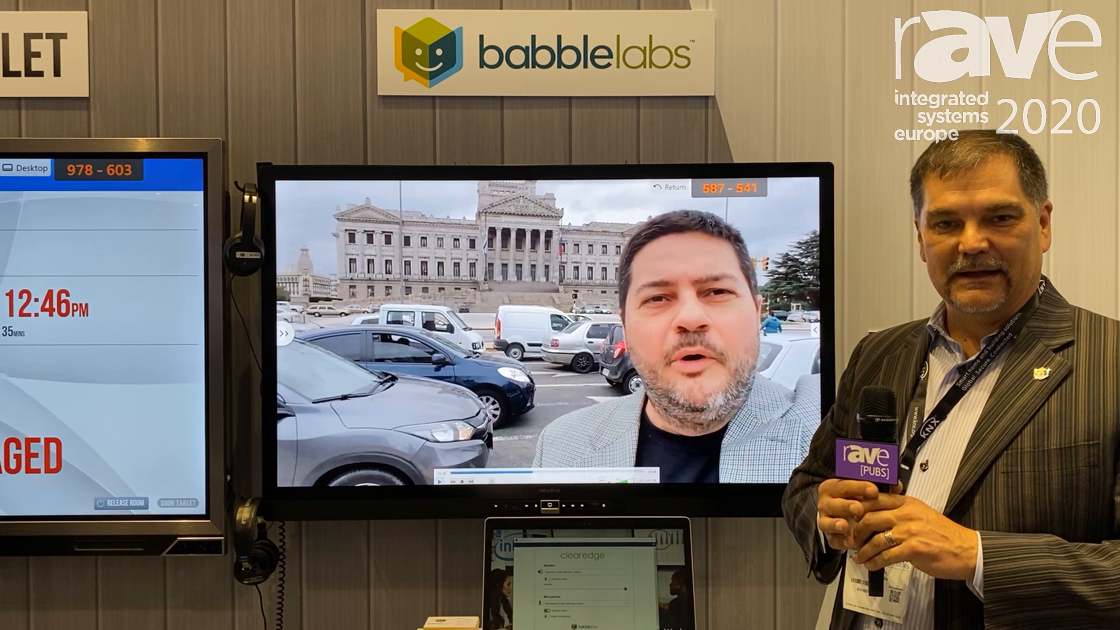 ISE 2020: Babblelabs Demos ClearEdge Technology for Speech Enhancement and Improving Video Quality