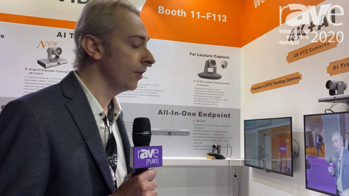 ISE 2020: ISMART VIDEO Demos AI Tracking Cameras for Video Conferencing With Two Cameras