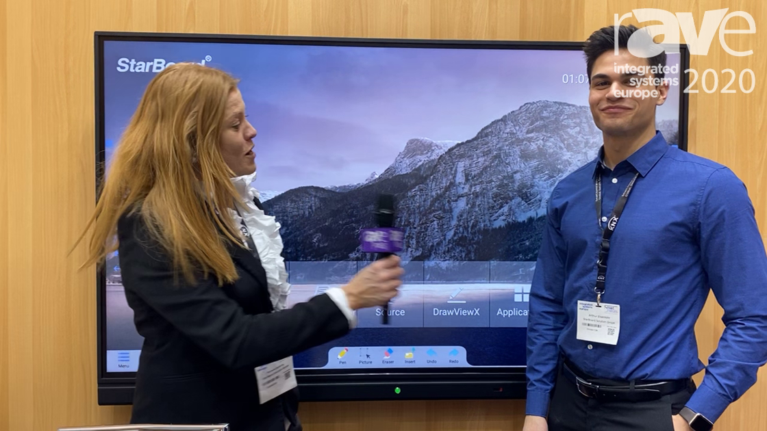 ISE 2020: StarBoard Demos 75″ Ultra-Slim IR Touch One-Touch Collaboration