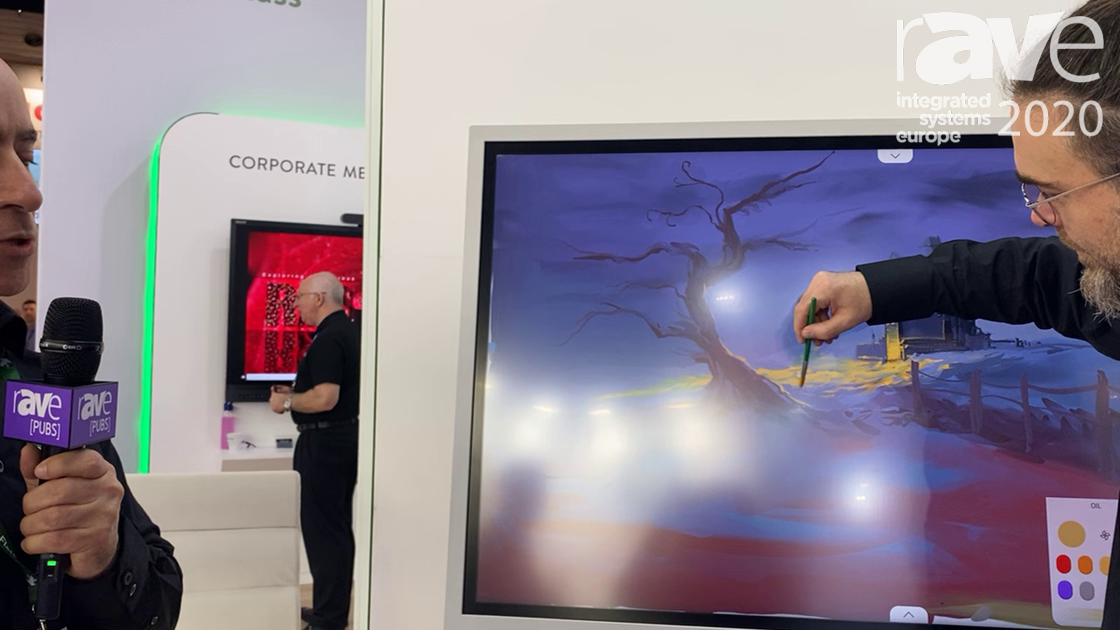 ISE 2020: FlatFrog Demos Samsung Flip 2.0 with Watercolor Brush Technology