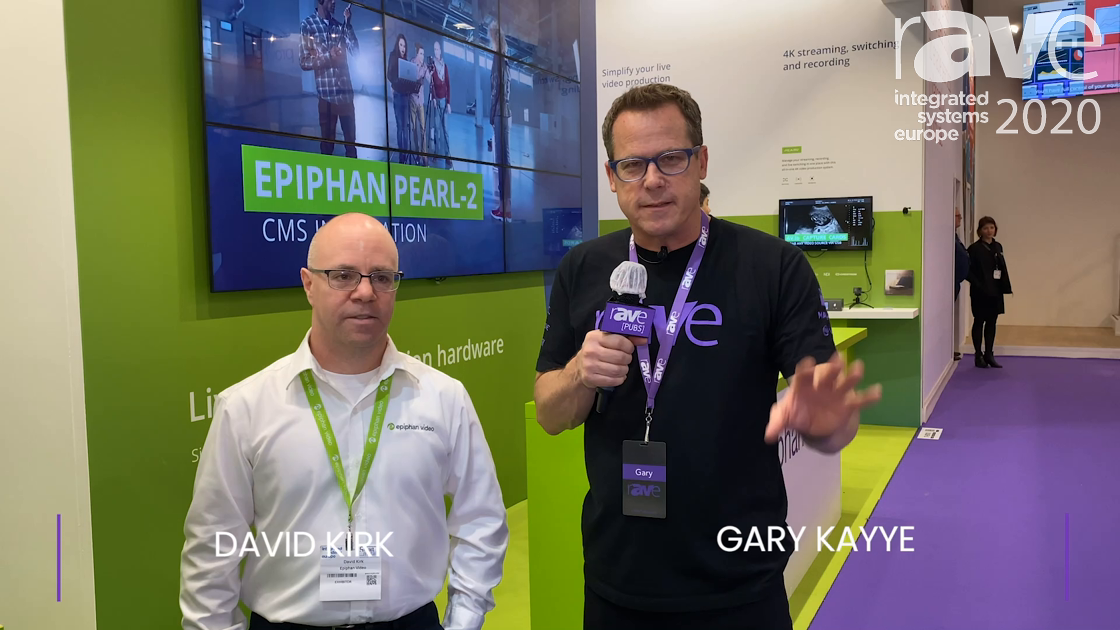 ISE 2020: David Kirk of Epiphan Intros Gary Kayye to LiveScrypt Real-Time Transcription Appliance