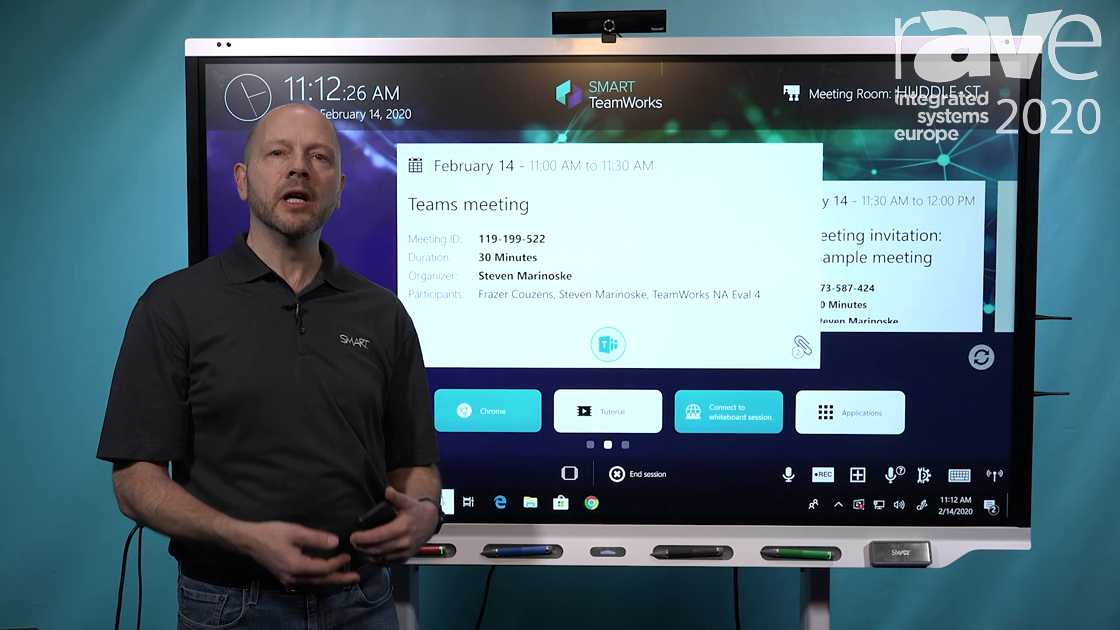 ISE 2020: SMART Technologies Demos TeamWorks Pause Feature for Continuing Disrupted Meetings