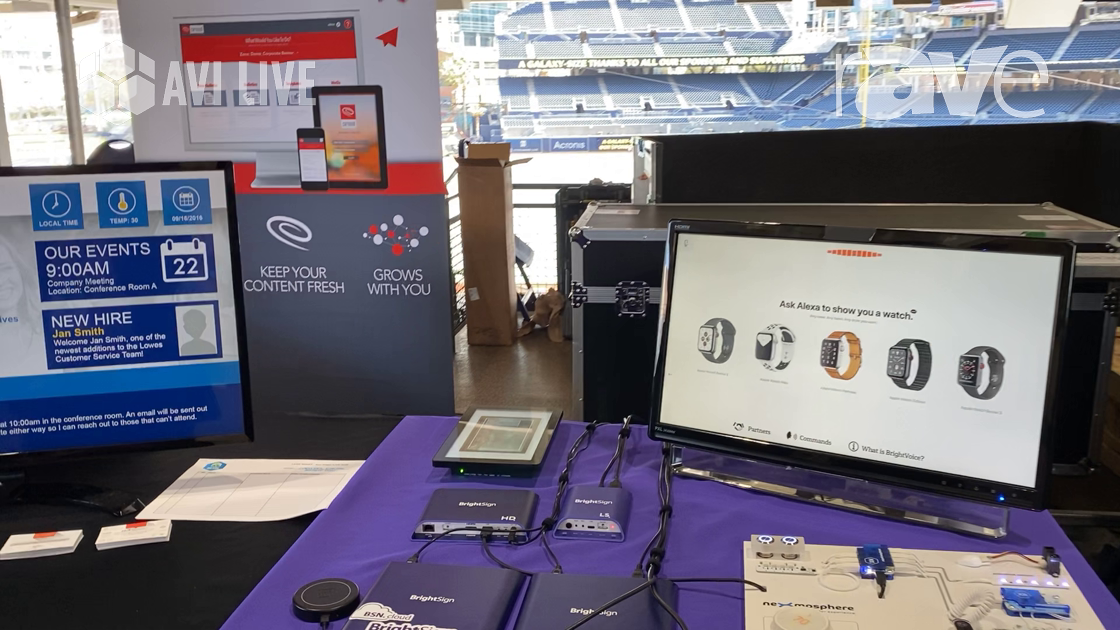 AVI LIVE: BrightSign Demos BightSign XT Player, Talks Carousel Digital Signage Collaboration