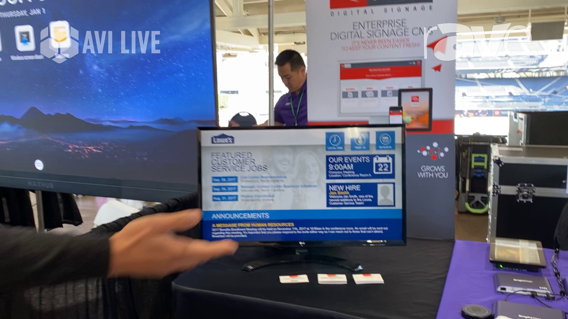 AVI LIVE: Carousel Digital Signage Talks About Enterprise Digital Signage CMS With BrightSign Player