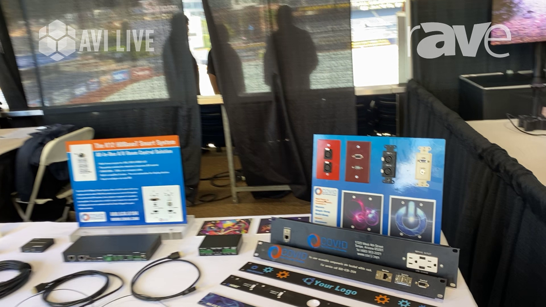 AVI LIVE: Covid Shows Off Its Custom Rack Plates and 4K Adapter Loop Connectors
