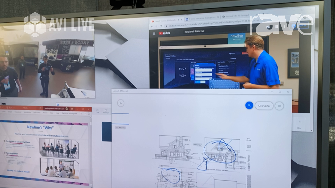 AVI LIVE: Newline Interactive Demos Interactive 55″ IP Series Panel for UCC and Video Conferencing
