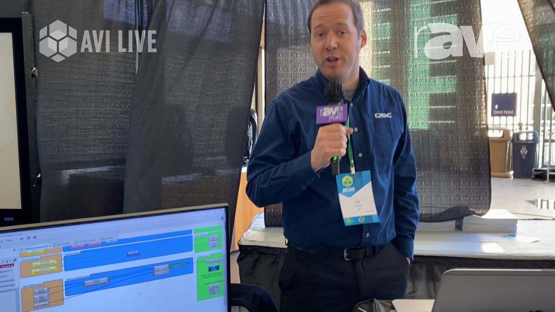 AVI LIVE: QSC Demos Q-SYS NV-32-H 4K60 Network Video Endpoint